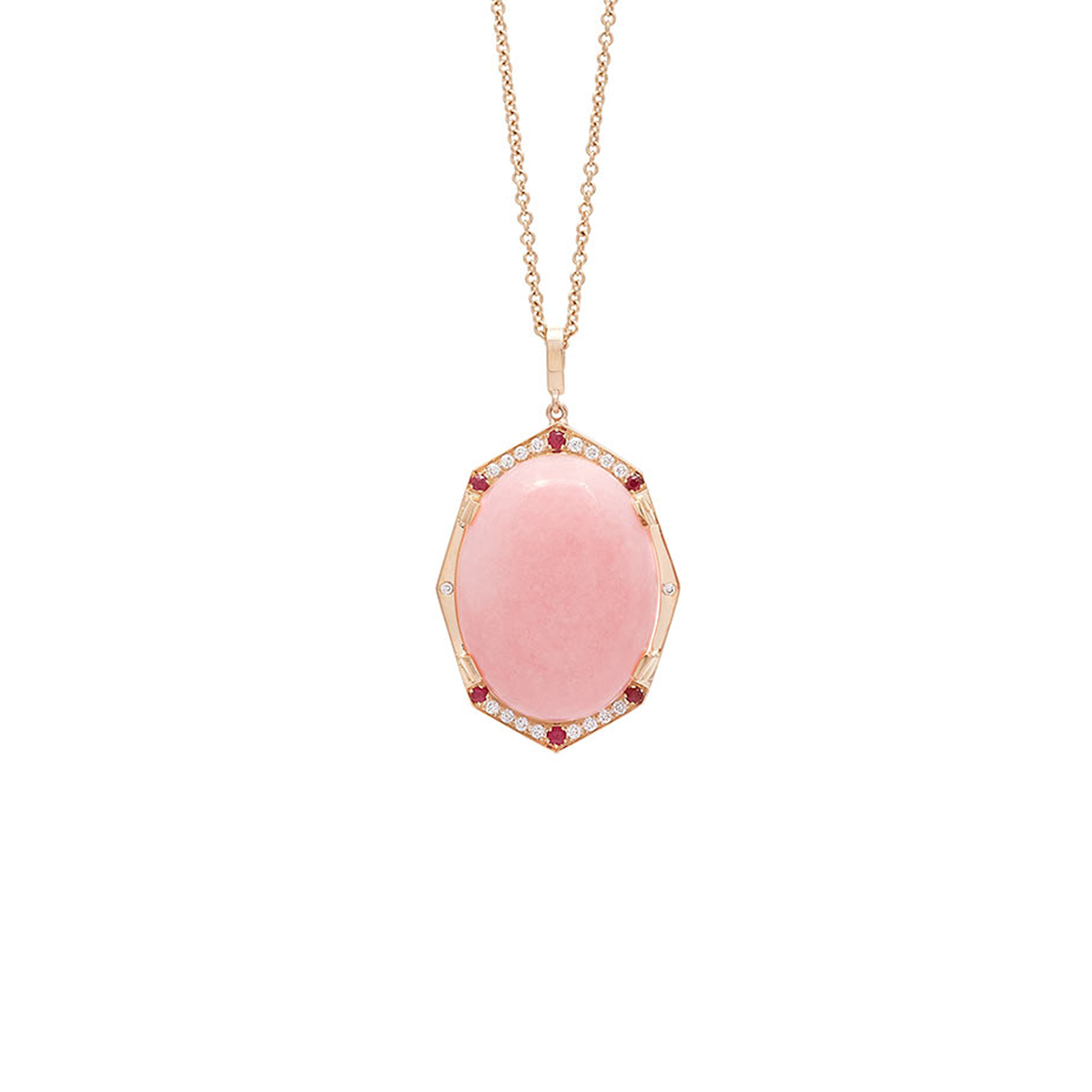 Affinity Sans Pendant-with pink opal
